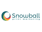 Snowball Print Marketing Logo